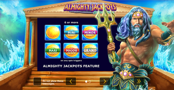 Almighty Jackpots Realm Of Poseidon by Greentube/Novomatic Logo