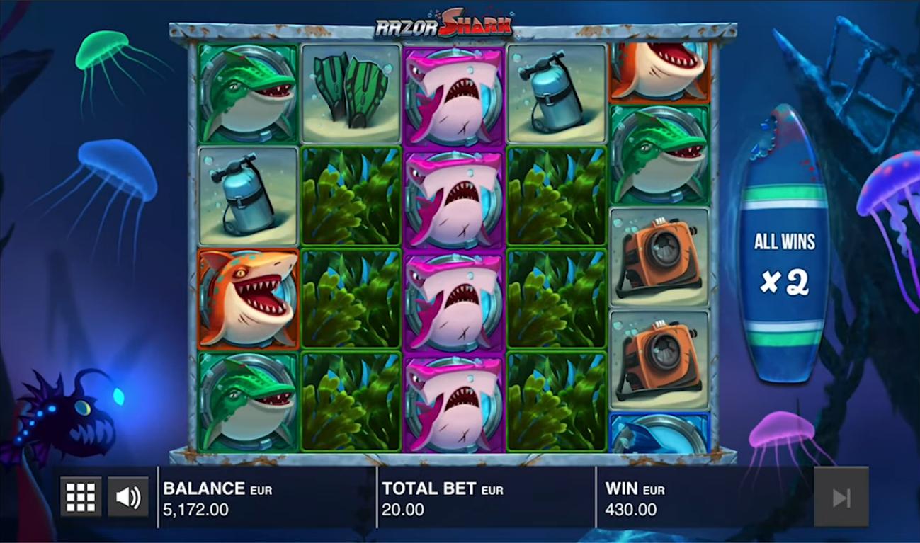 Razor Shark by Push Gaming Gameplay