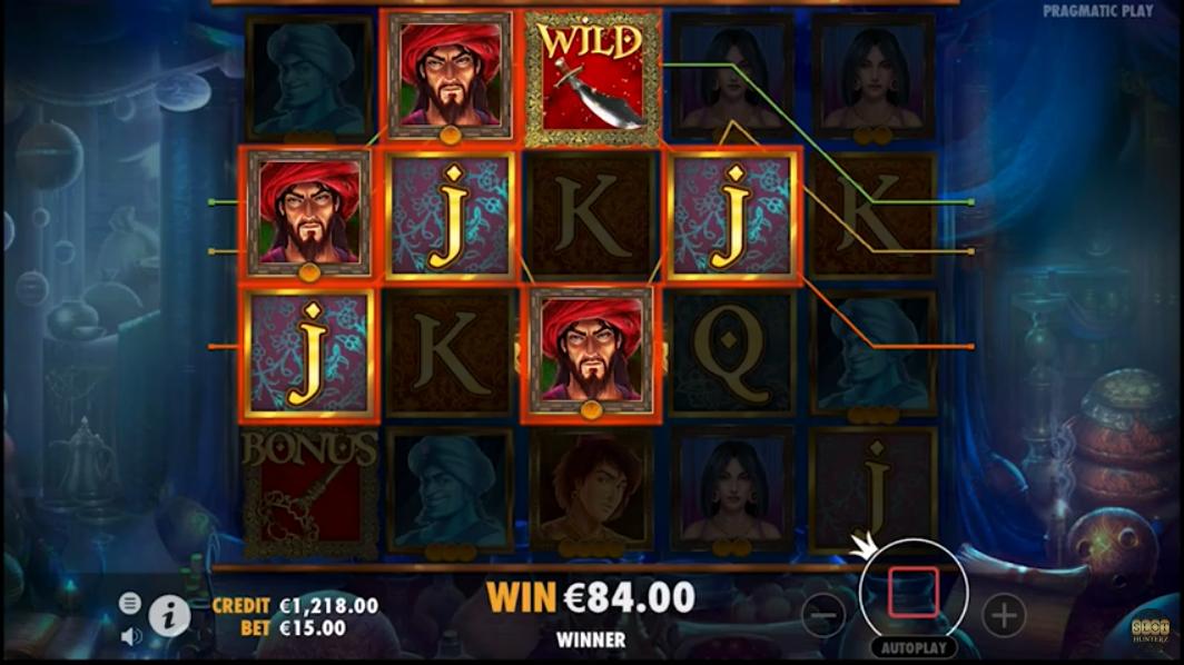 Aladdin's Treasure by Pragmatic play gameplay.